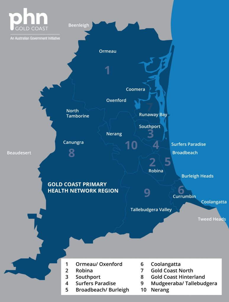Gold Coast Primary Health Network catchment area