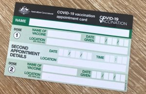 COVID-19 Vaccine Appointment Card
